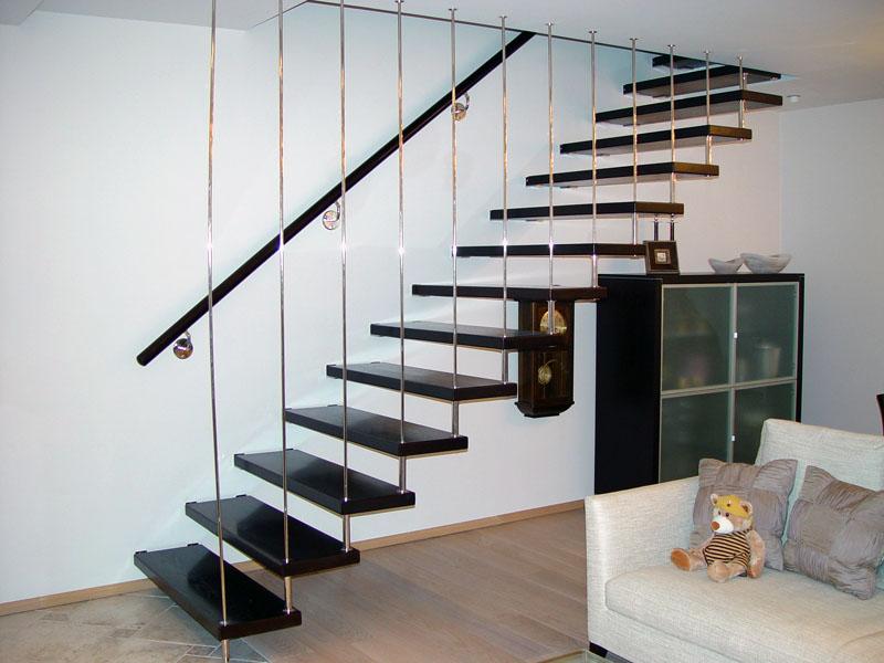Самые распространенные типы деревянных лестниц в частных домах. Фото
