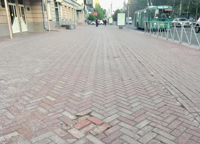Плитку заменят на Красном проспекте в Новосибирске
