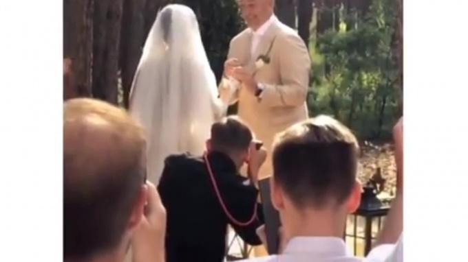 В сети появилось видео свадьбыартистов Потапа и Насти Каменских