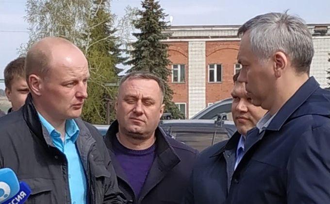 На полях в Ордынском районе побывал губернатор Андрей Травников