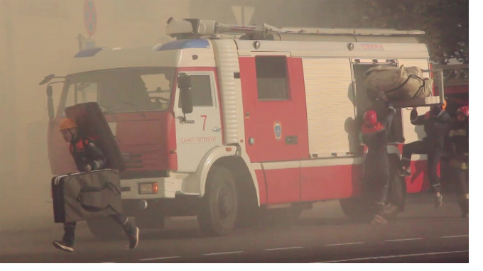 В Красногвардейском районе Петербурга сгорела баня