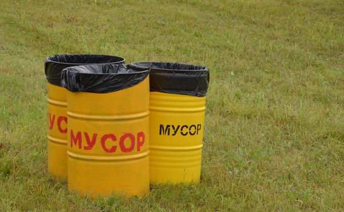 Предприниматель убрал мусор в Кыштовке